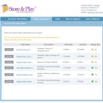 Store & Play's new management screen