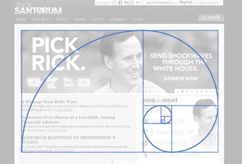 Golden Ratio House Design designing with instinct: santorum's website and the golden ratio